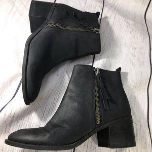 BP block heel Leather boots